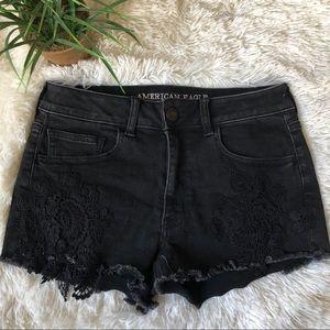 🌵 American Eagle black high rise shorts 6